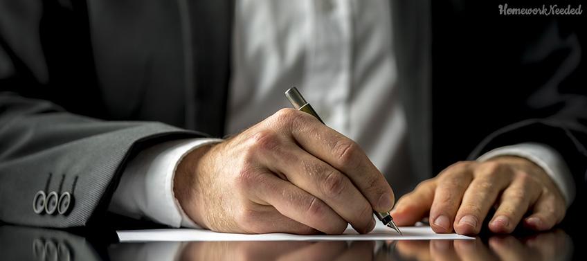 Person Writes