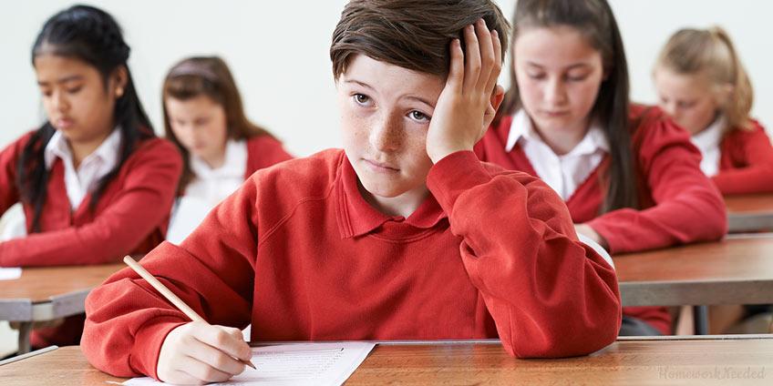 Pupils Writing Exam